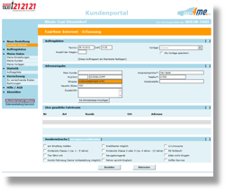 Online-Kundenportal ENTWURF